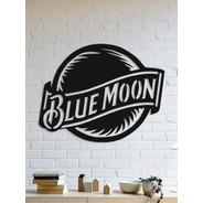 Quadro Decorativo Parede Marcas Blue Moon Logo 30cm
