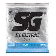 Encordado Sg Guitarra Electrica Hibrido 09/46 Cuerdas Set
