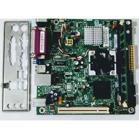 Combo Tarjeta Madre Ddr2 775 Intel Atom 1.6 Ram 2gb Rejilla