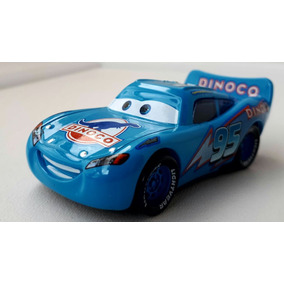 Disney Pixar Carros: Relâmpago Mcqueen #95 Azúl Dinoco