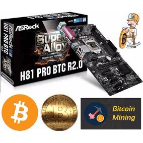 Asrock H81 Pro Btc R 2.0 Placa Mae Mb 1150 Mineracao Bitcoin
