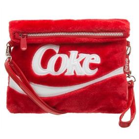 Bolsa Transversal Vermelha Pelúcia Feminina Coca-cola Nova