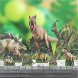 Kit 9 Und Festa Completo Dinossauro Totem Chão Mesa Display