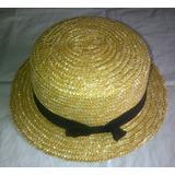 Sombreros De Paja Con Cinta Para Damas. 58 Cms. De Diametro