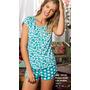 Pijama Short+remera Con Cartera Promesse Art 10133 Dor