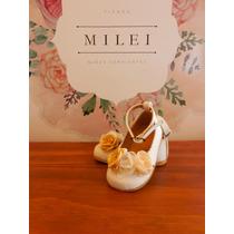 Zapato Bautismo Beba, Nena. Balerinas Romanticas. Cortejo.
