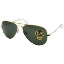 Ray Ban Aviador Cristal G15 Gafas Aviator Rb 3025 Medianas