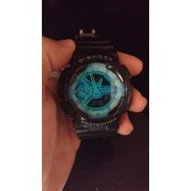 Relógio G Shock Ga 100 Perto Com Azul Esportivo Fretegrátis