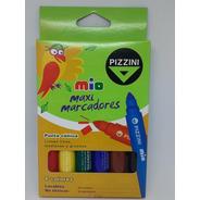 Marcador Pizzini Maxi X 6 Colores