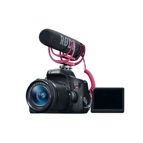 Cámara Reflex Dslr Canon T6i Combo Micrófono Tripié Maleta