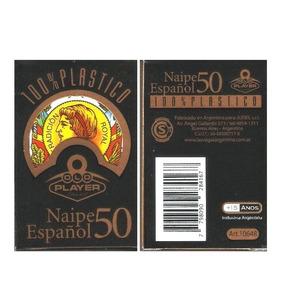 Naipes Cartas Españolas Plasticas 50 Cartas Old Player 10648