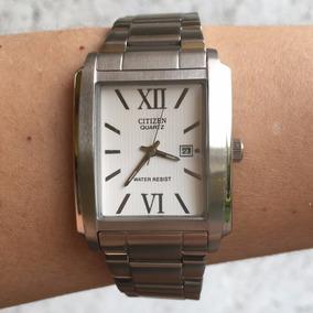 Reloj Citizen Plateado Para Caballero.