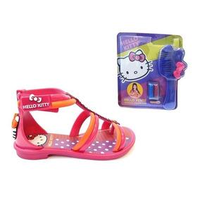 3d839fbc41 Sandália Hello Kitty Club Glitter Preta Grendene Show!!! - Calçados ...