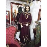 Escultura De Jesus En Madera Articulado De Vestir Antiguo