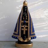 Imagem Nossa Senhora Aparecida Com Pérolas E Strass (20 Cm)