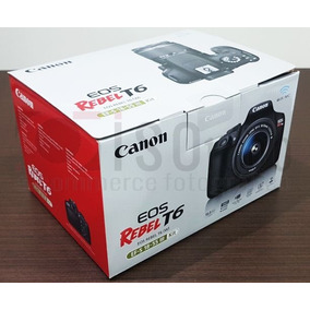 Câmera Canon T6 +18-55mm Nova - Revenda Autorizada Canon