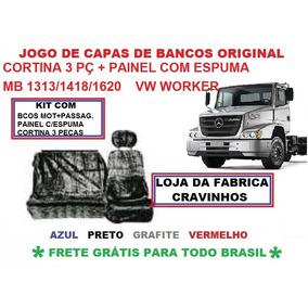 Capa Chinil Bancos+painel Com Espuma+cortina 3 Pç Mb/vw/ford