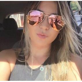 1a4d3c1f3dc32 Oculos Rose Espelhado Aviador Feminino - Óculos no Mercado Livre Brasil