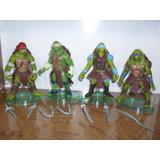 Tortugas Ninjas Mutantes Excelentes! Tmnt Set X4 Articuladas