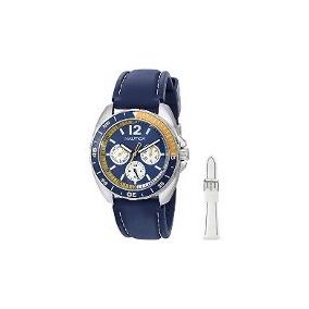 Relógio Náutica N09915g 2pulseiras Azul E Branca