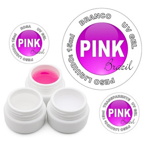 Gel Uv Led Acrygel Pink ( Rosa ) Gel Construtor De Unhas 15g
