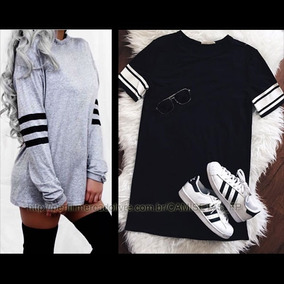 Kit 2 Camiseta Feminina Tumblr Style Roupa Estilo Swag Moda
