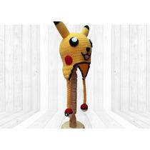Gorro Tejido Pikachu Para 1a3años