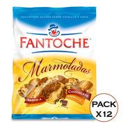 Galletitas Marmoladas Chocolate Y Vainilla 350g Fantoche X12