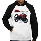 Moletom Moto Suzuki Gsx R 750 Srad Vermelha Raglan