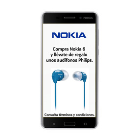 Nokia 6 Android Lte Pant 5.5 Fhd 32+3ram 16+8mpx Plata Msi