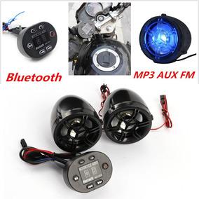 Sonido De La Motocicleta Sistema De Negro De Bluetooth De Au
