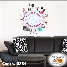 Adesivo Salão De Beleza Cosméticos Maquiagem Will384