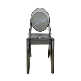 Cadeira Acrílica Miss Sofia Fume Pc102a Sem Braço
