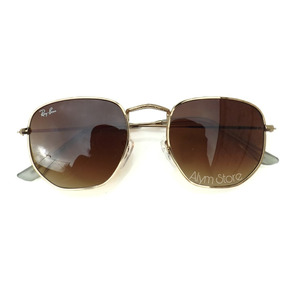 dd923dbf6f0c3 Óculos De Sol Hexagonal Várias Cores +case + Flanela +caixa