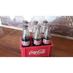 Coca-cola Cajon Y Botellas Coca-cola Miniatura