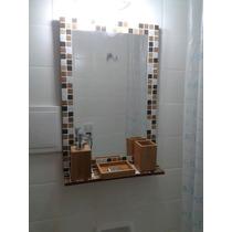 Espejo 60x40 Con Estante.ideal Baño.
