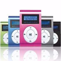 Mini Mp3 Player Com Visor Lcd Rádio Fm Clip Corrida