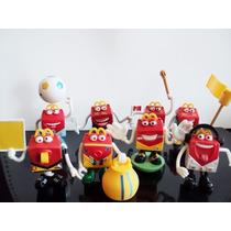 Lote 4 Bonecos Happy Mc Donalds 2014 Copa Mc Lanche Feliz