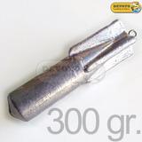 Plomadas Pesca Bagre De Mar 300 Gramos Torpedo Plomo