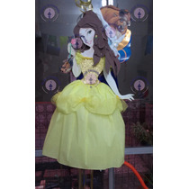 Piñata Princesa Bella Y Bestia