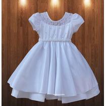 Vestido Infantil De Festa Dama De Honra Noivinha Com Tiara