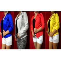 Blazer Coloridos Femininos Pronta Entrega