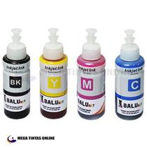 4 Refil Tinta Compatível Ep L110 L210 L355 L555 L455