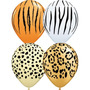 Globo Animal Print Safari De Látex 11 Pulgadas Qualatex
