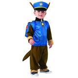 Disfraz Paw Patrol Chase Patrulla Canina Niños 3-4 Años