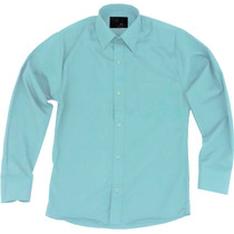 Camisa Vestir Infantil Juvenil Salidas Escolares Verde Menta
