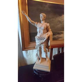 Escultura Romana En Marmolina Otavio Augusto