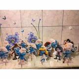 Smurf Kit Decoração De Festa 10 Display Mdf
