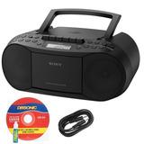 Radiograbadora Sony Stereo Portátil Am Fm Aux Cd-1