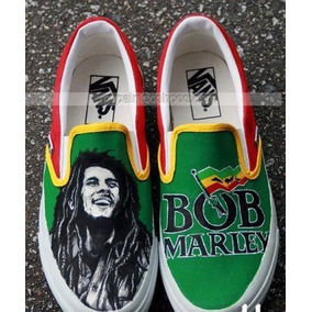 Tenis Bob Marley Pintados A Mano Marca Collec